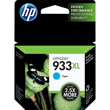 HP 933XL (CN054AN) High Yield Cyan Original Ink Cartridge (825 Yield)
