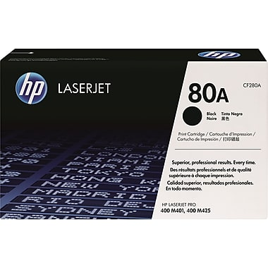 HP 80A (CF280A) LaserJet Pro 400 M401 400 MFP M425 Black Original LaserJet Toner Cartridge (2700 Yield)
