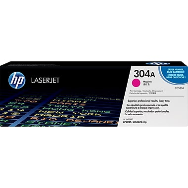 HP 304A (CC533A) Color LaserJet CM2320 MFP CP2025 Magenta Original LaserJet Toner Cartridge (2800 Yield)