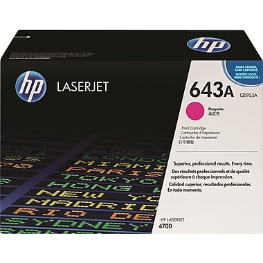 HP 643A (Q5953A) Color LaserJet 4700 Magenta Original LaserJet Toner Cartridge (10000 Yield)