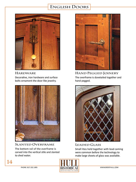 Authentic Historic Doors - Instant PDF Download