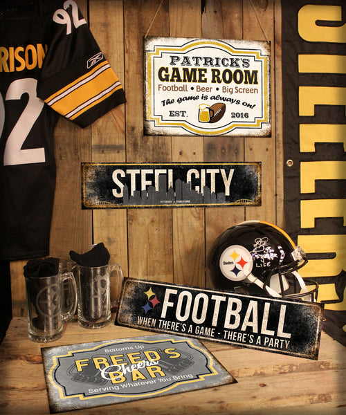 "Custom Multi-Sport Game Room // 1 Aluminum Sign // Indoor or Outdoor // 12"" x 16"""