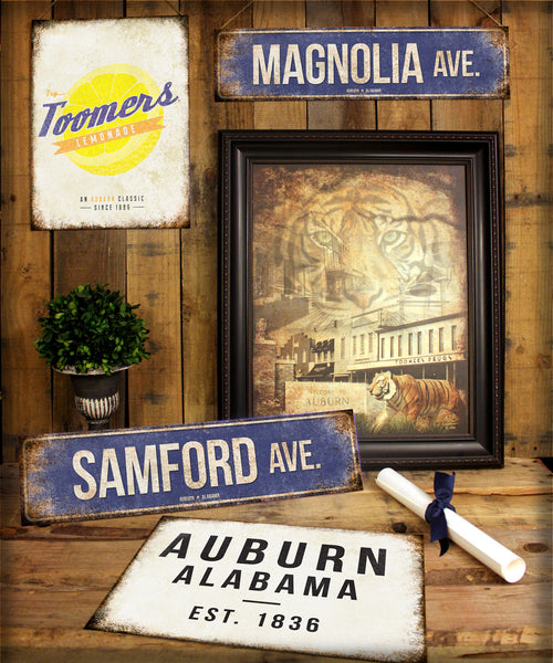 "Magnolia City // Houston, Texas  // 1 Aluminum Sign // Indoor or Outdoor // 5.5"" x 22"""