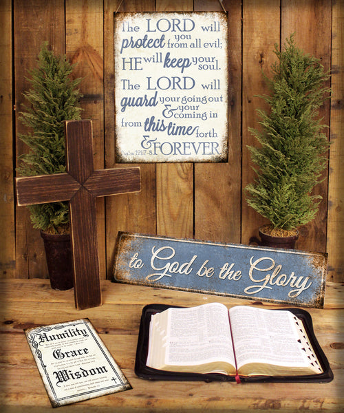 "James 1:5-6 // 1 Aluminum Sign // Indoor or Outdoor // 12"" x 16"""