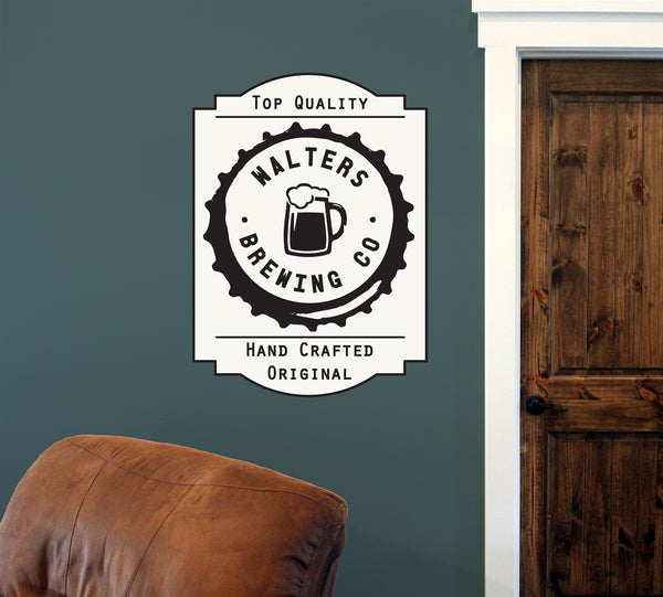 "Custom Brewing Co. // 18"" x 24"" // Die Cut Wall Decal"