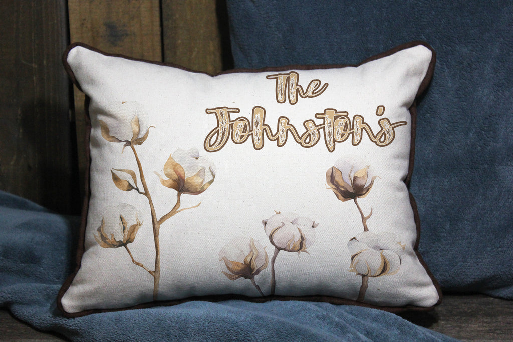 "Custom Name with Cotton or other Graphics // 12""x16"" // Accent Pillow with Insert"