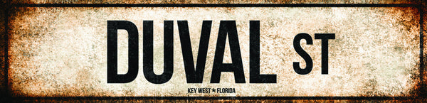 "Duval St // New Orleans, Louisiana  // 1 Aluminum Sign // Indoor or Outdoor // 5.5"" x 22"""