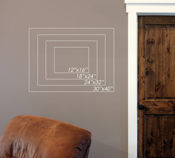 "Custom Garage // 24"" x 32"" // Die Cut Wall Decal"