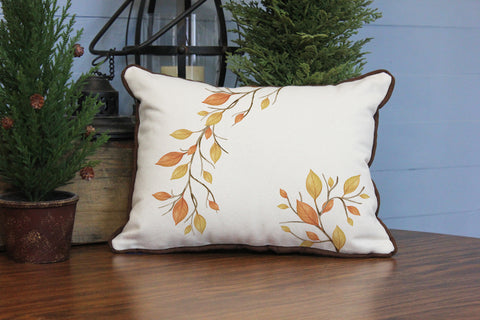 "Autumn Leaves 2 // 12""x16"" // Fall Season Accent Pillow with Insert"