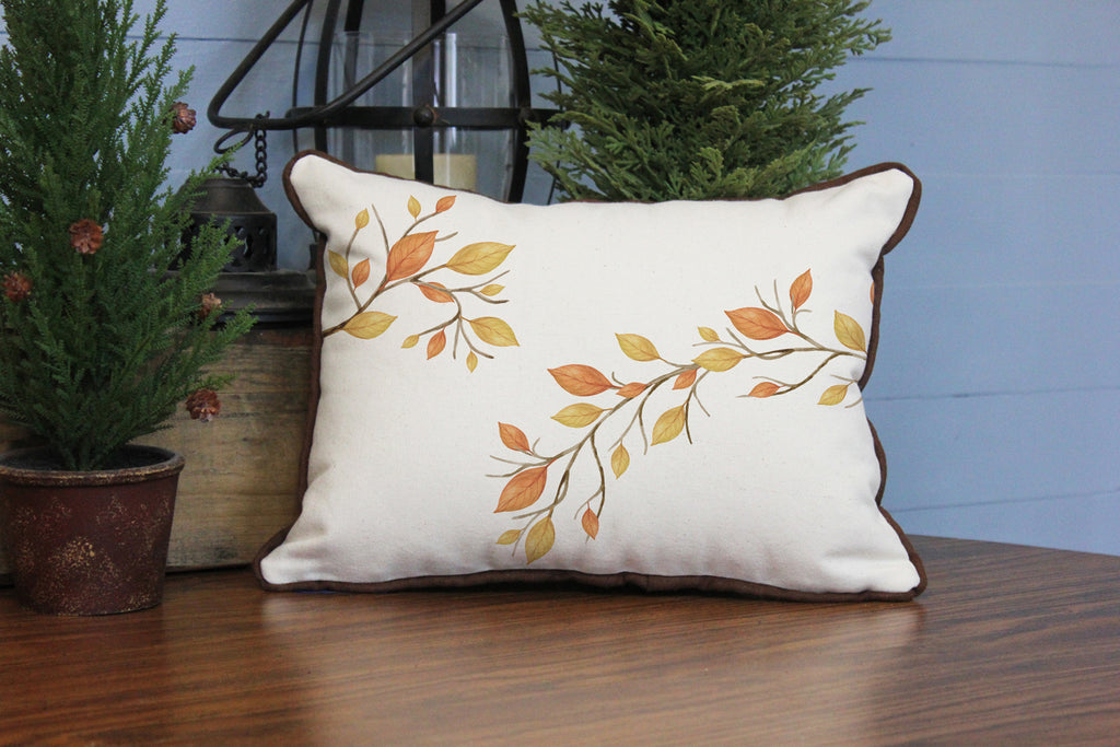 "Autumn Leaves // 12""x16"" // Fall Season Accent Pillow with Insert"