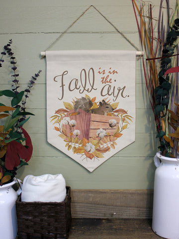 "Fall Air // 12""x16"" // Canvas Banner Flag // Fall Season Decor"