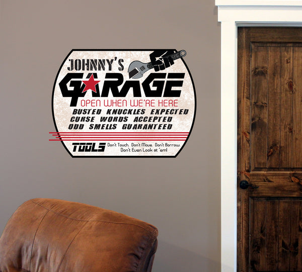 "Custom Garage // 12"" x 16"" // Die Cut Wall Decal"