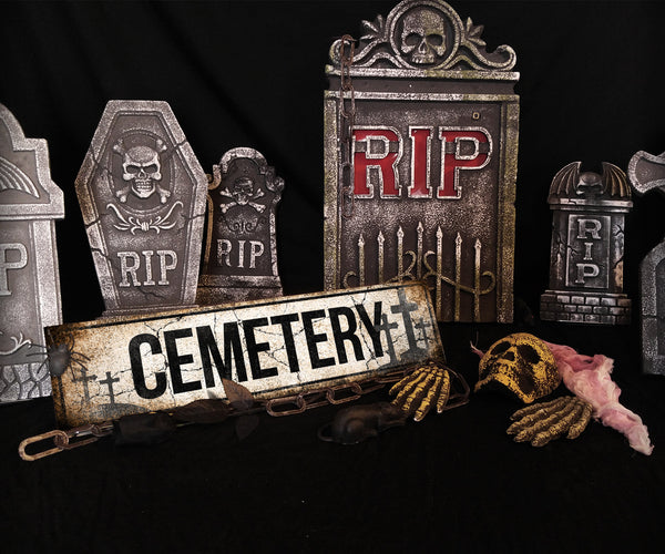 "Cemetery // 1 Aluminum Sign // Indoor or Outdoor // 5.5"" x 22"""