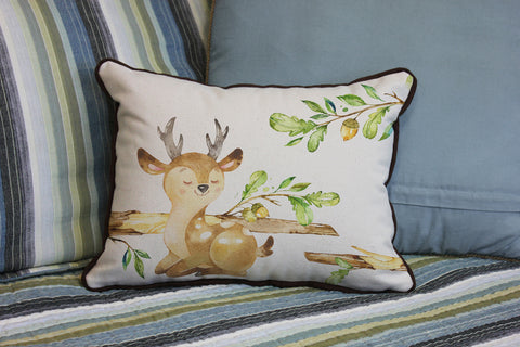 "Young Buck // 12""x16"" // Children's Accent Pillow with Insert"
