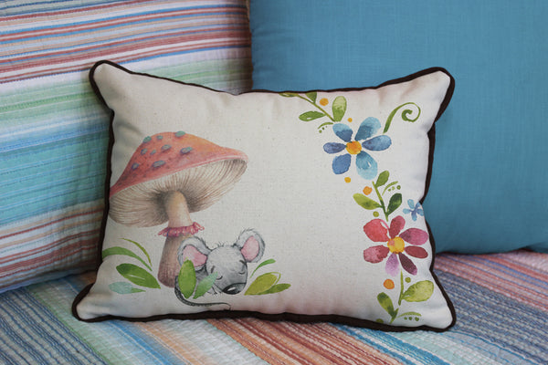 "Tiny Mouse // 12""x16"" // Children's Accent Pillow with Insert"