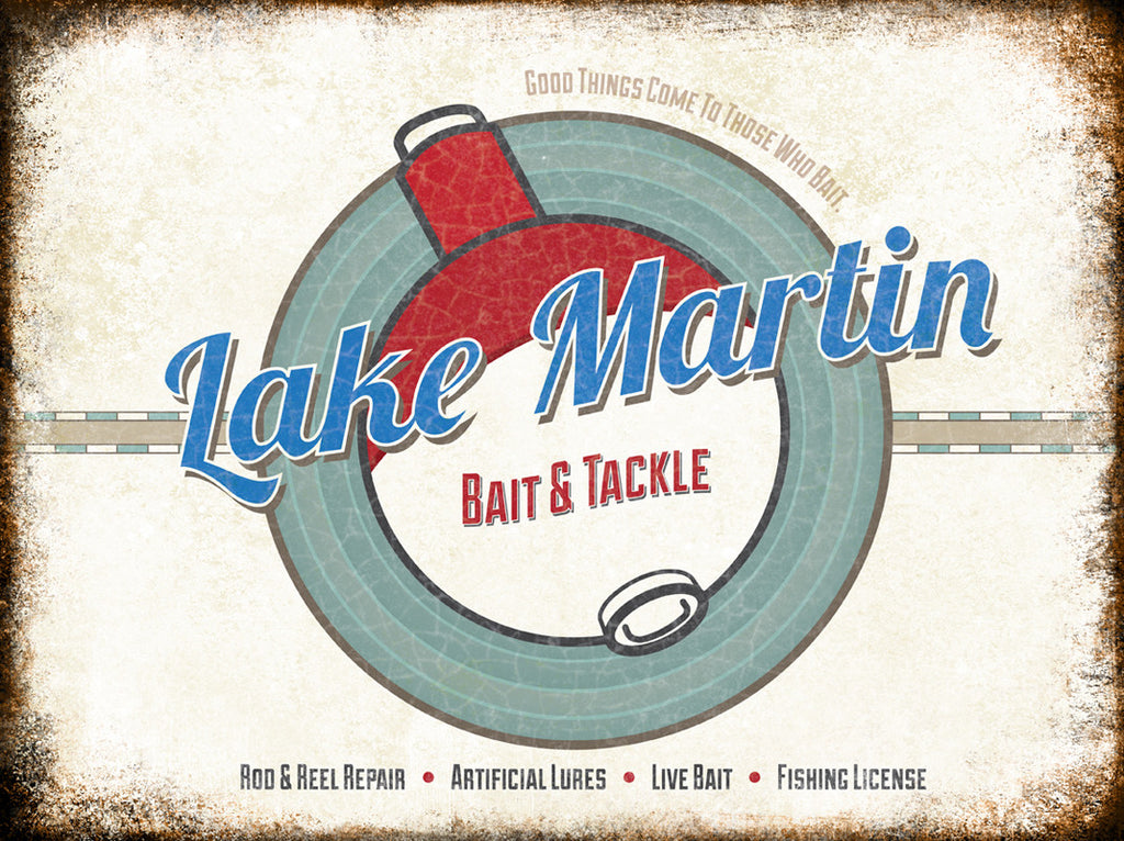 "Lake Martin // 1 Aluminum Sign // Indoor or Outdoor // 12"" x 16"""