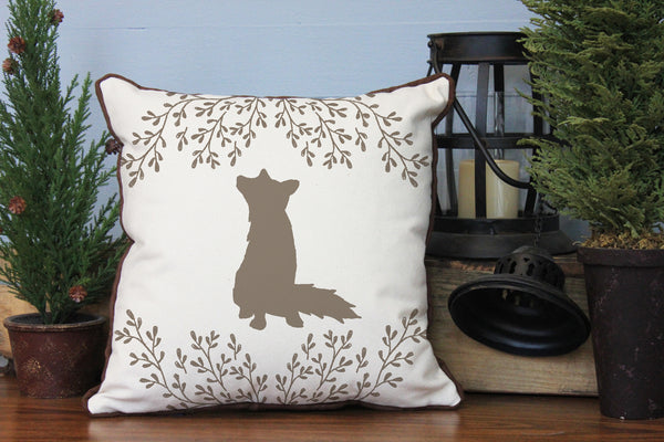 "Custom Animal with Leaf Graphic // 16""x16"" // Accent Pillow with Insert"