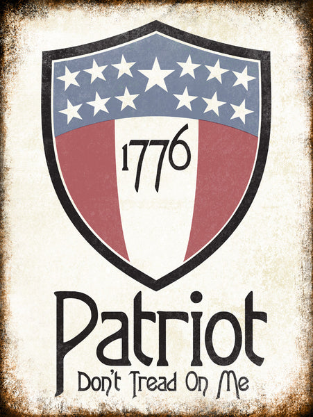 "1776 Patriot // 1 Aluminum Sign // Indoor or Outdoor // 12"" x 16"""