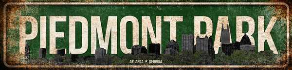 "Piedmont Park // Atlanta, Georgia  // 1 Aluminum Sign // Indoor or Outdoor //  5.5"" x 22"""