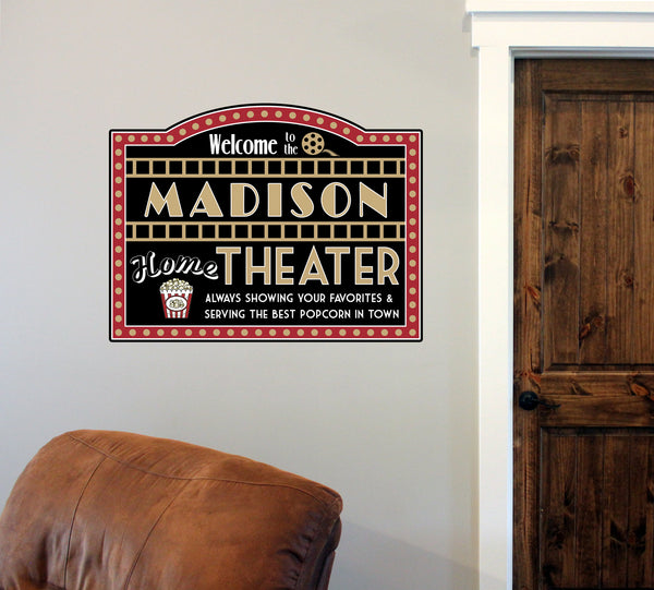 "Custom Home Theater // 12"" x 16"" // Die Cut Wall Decal"