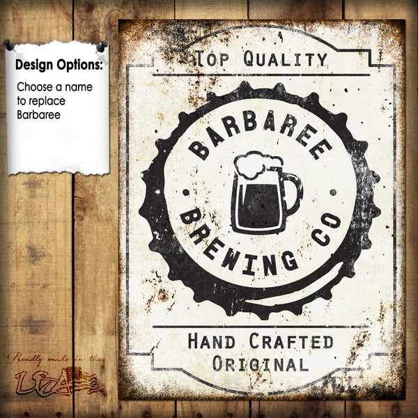 "Custom Brewing Company // 1 Aluminum Sign // Indoor or Outdoor // 12"" x 16"""