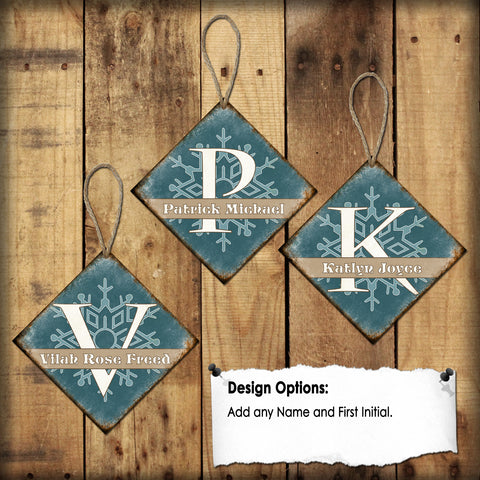 "Custom Tree Ornaments // Stocking Tags // 1 Aluminum Sign // Indoor or Outdoor // 4"" x 4"""