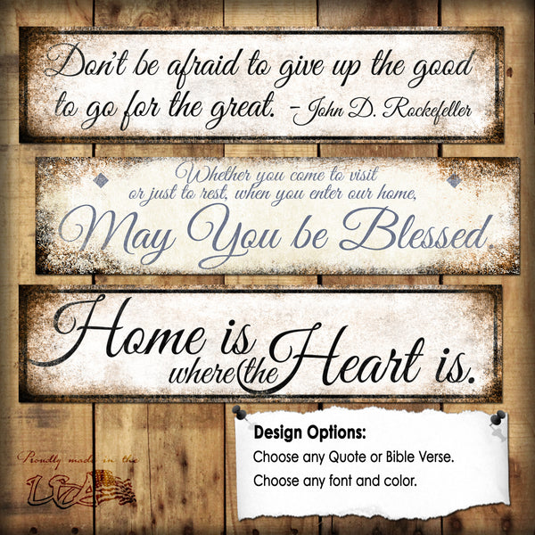 "Custom Quote Sign // 1 Aluminum Sign // Indoor or Outdoor // 5.5"" x 22"""