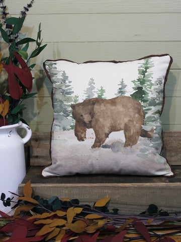 "Bear // 16""x16"" // Wilderness Accent Pillow with Insert"