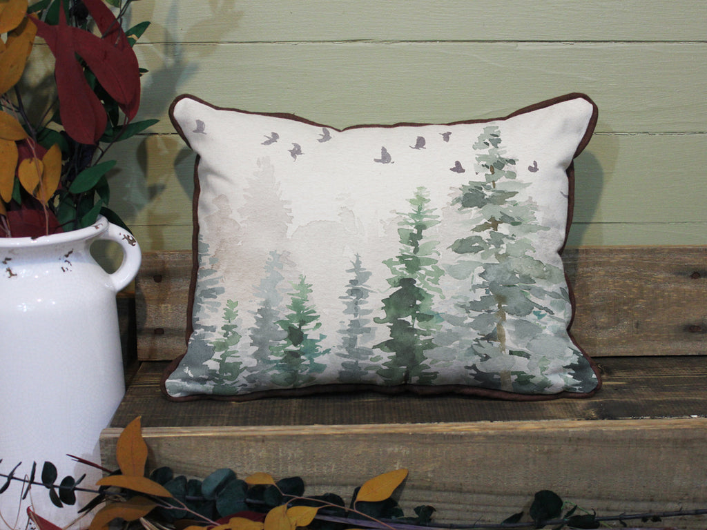 "Wild Flock // 12""x16"" // Wilderness Accent Pillow with Insert"