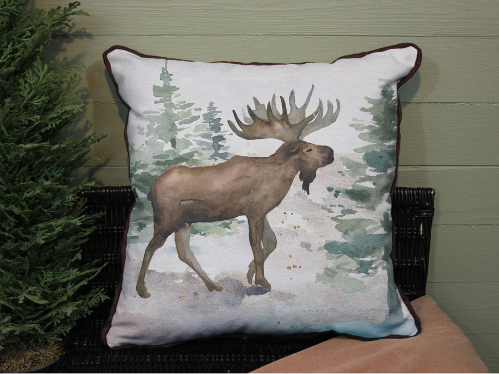 "Moose // 16""x16"" // Wilderness Accent Pillow with Insert"