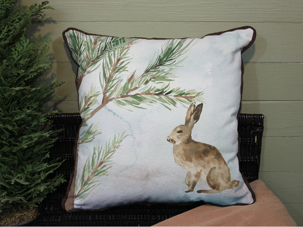 "Wild Rabbit // 16""x16"" // Wilderness Accent Pillow with Insert"