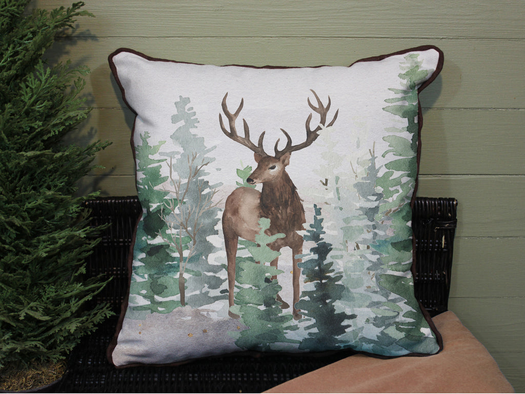 "Stag // 16""x16"" // Wilderness Accent Pillow with Insert"