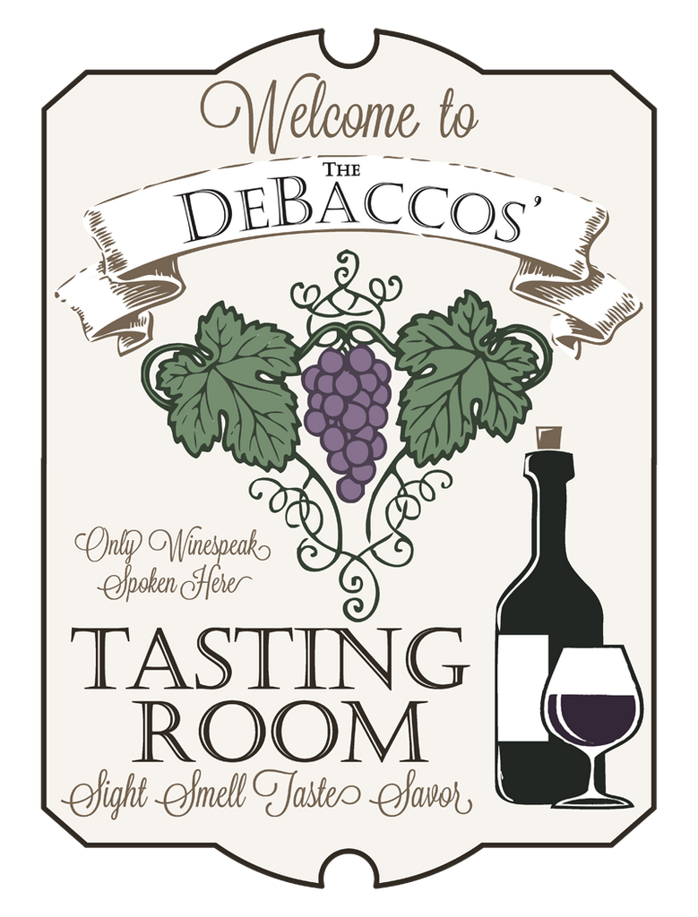 "Custom Wine Tasting Room // 18"" x 24"" // Die Cut Wall Decal"