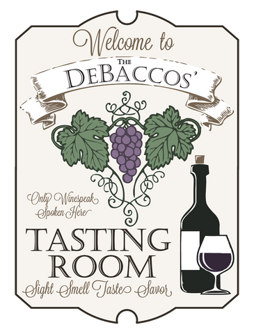 "Custom Wine Tasting Room // 30"" x 40"" // Die Cut Wall Decal"