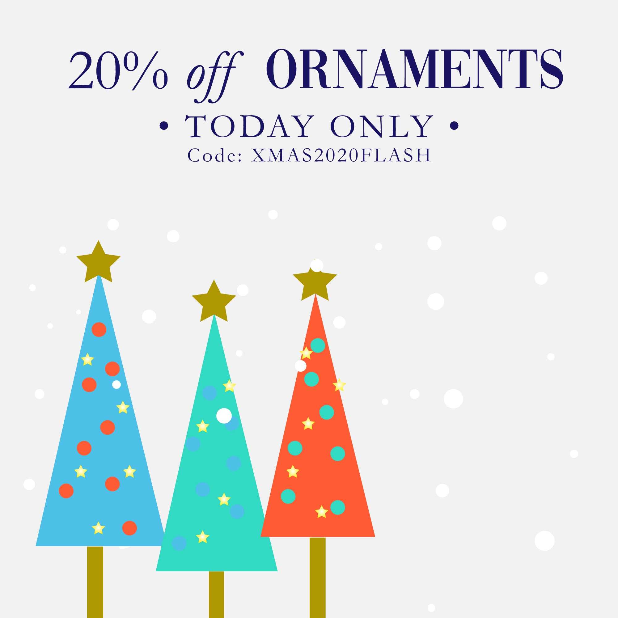 20% off ornaments today