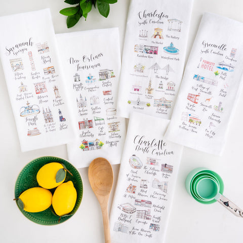Flour sack tea towels are useful in the kitchen and make excellent gifts.