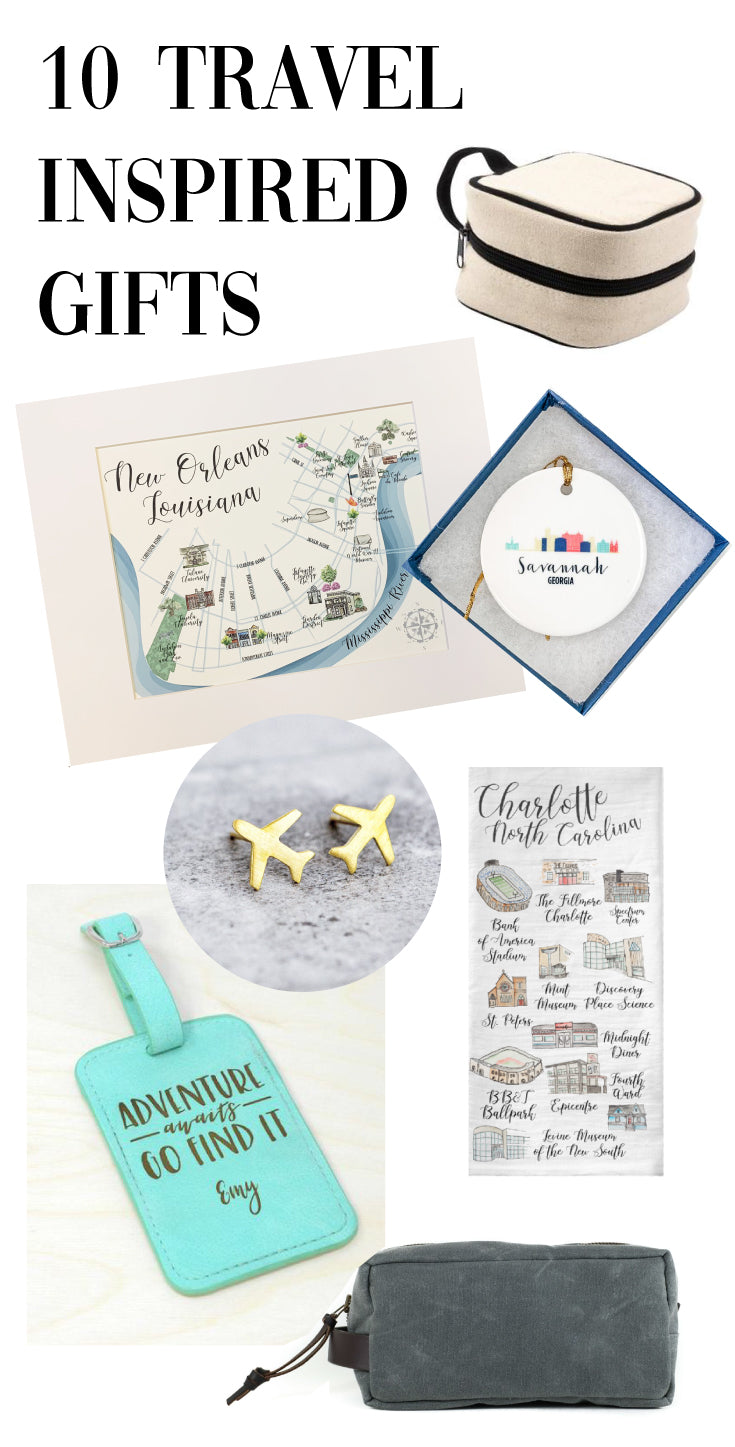 10 travel inspired gift ideas