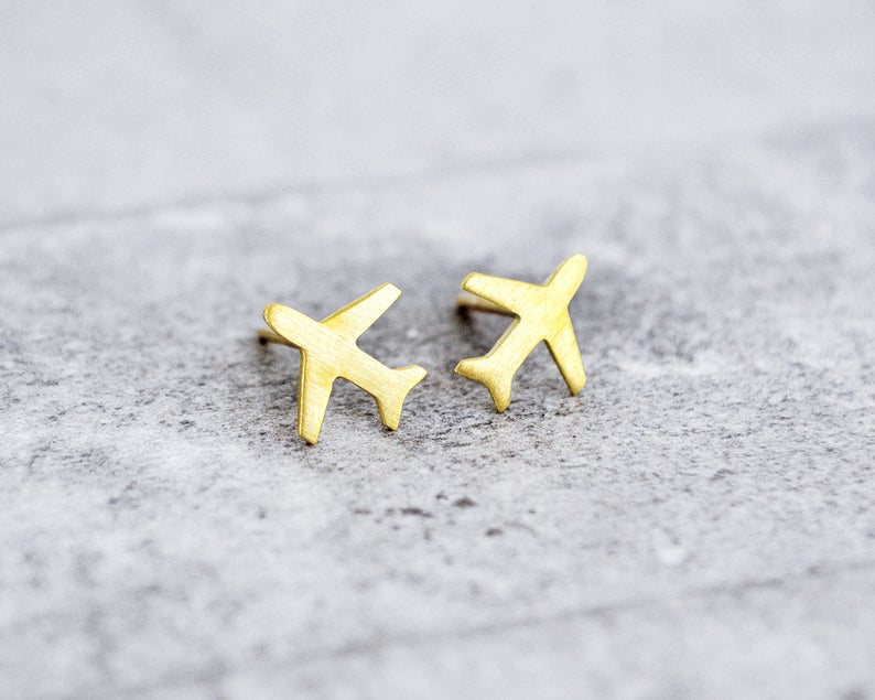 airplane earrings make a great travel inspired gift