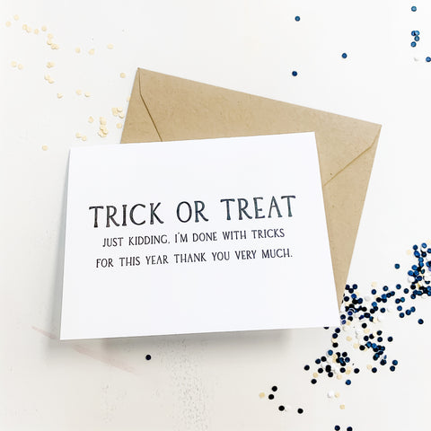 A funny Halloween card to send to friends and family this year.