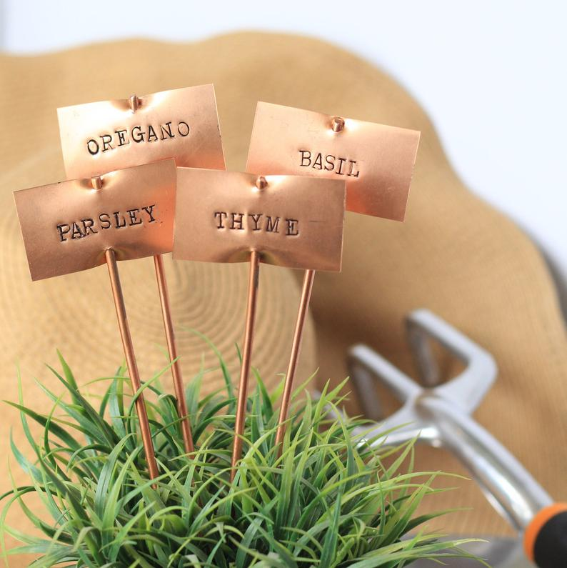 copper garden stakes make a great gift idea for gardening friends