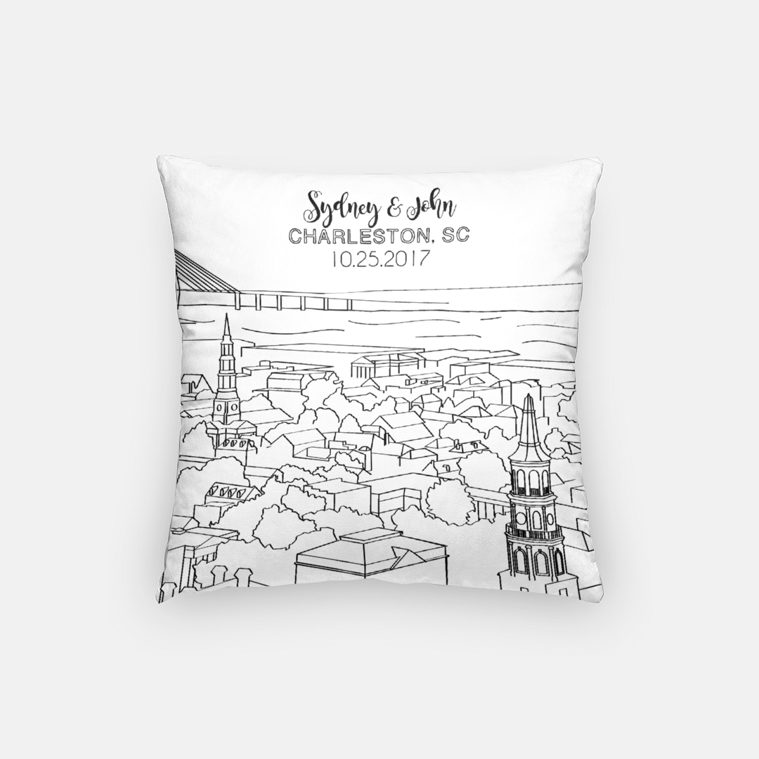 The Holy City Pillow (Black)