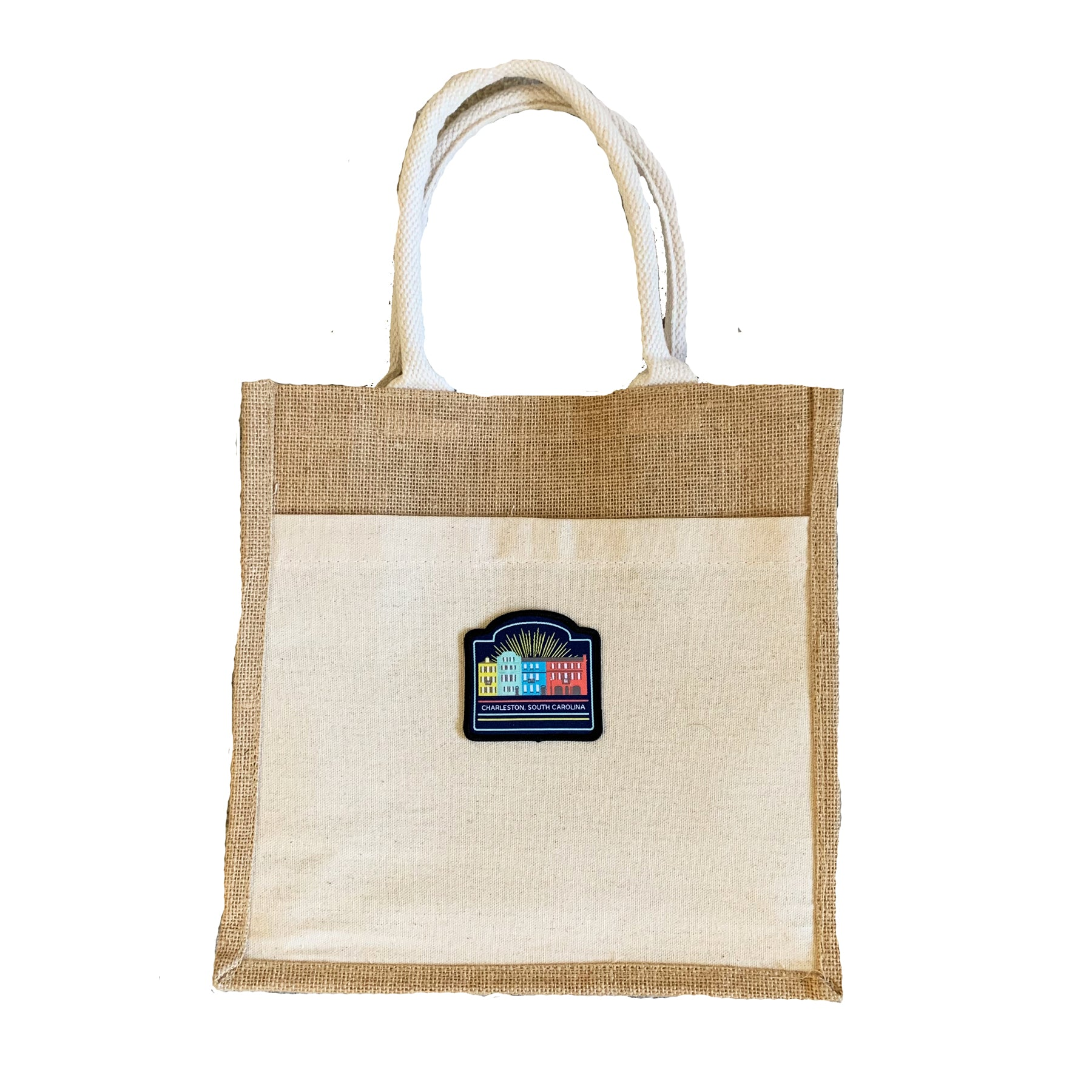 Charleston Jute Bag with Patch