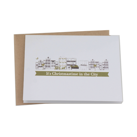 Christmas Time in the City Charleston Christmas Card Stationery Set