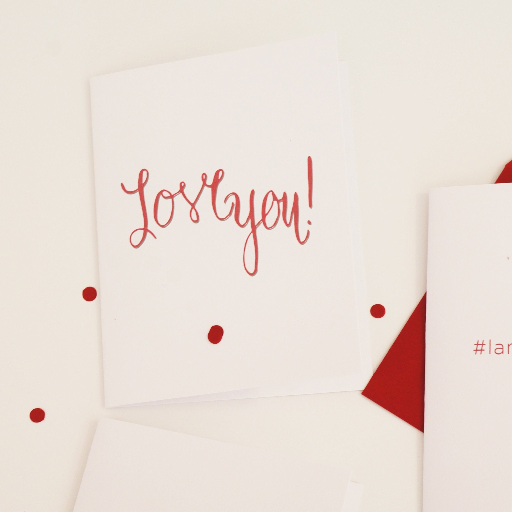 Love You Sweet Valentine's Day Card - shop greeting cards, handmade stationery, & wedding invitations by dodeline design - 1