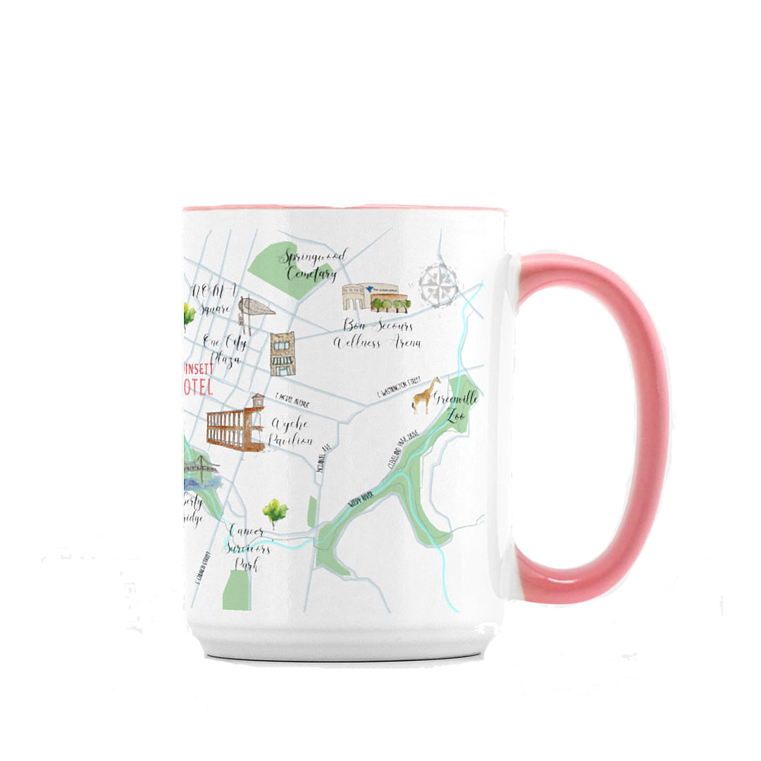Greenville Map Mug