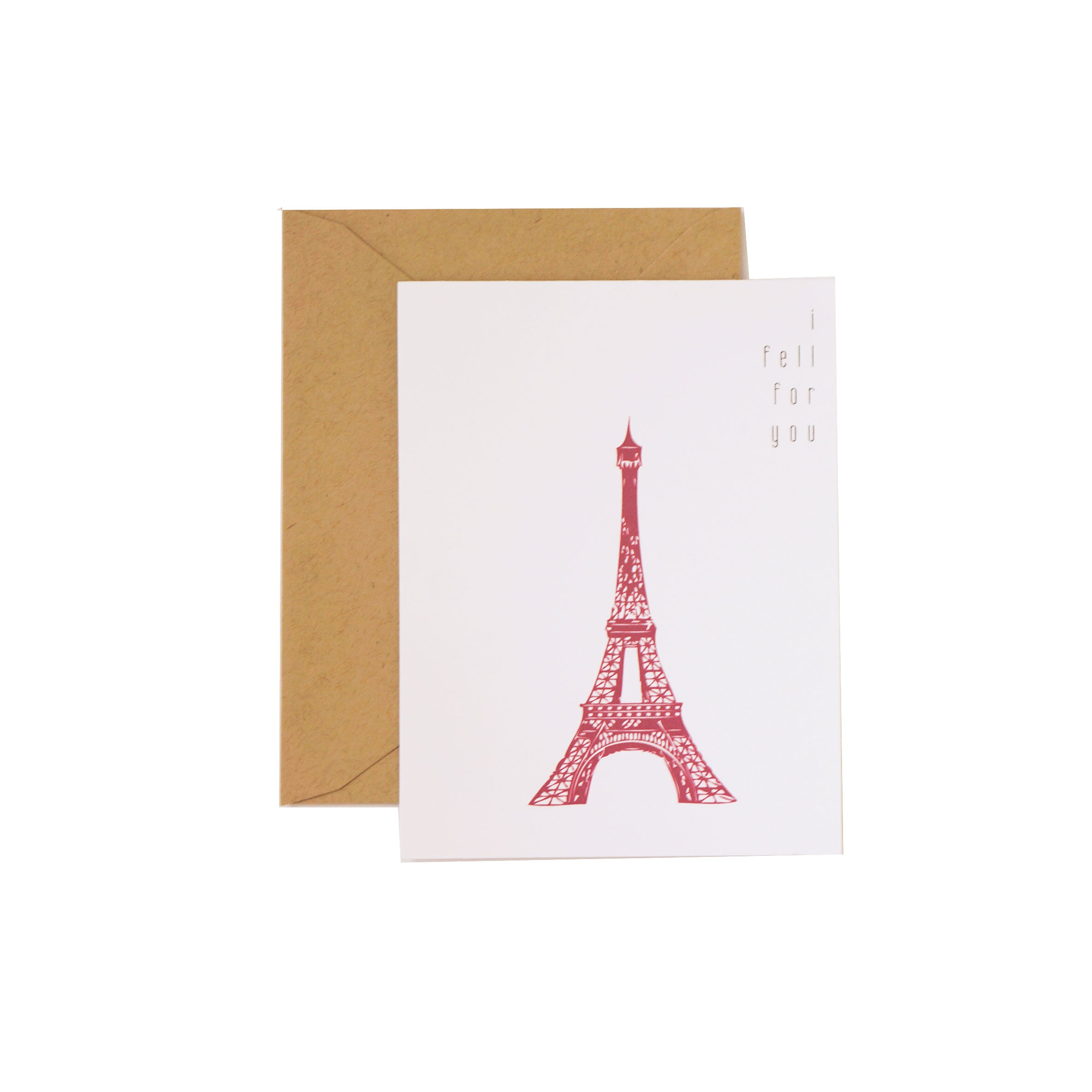 I Fell For You Valentine's Day Card French Inspired Paris