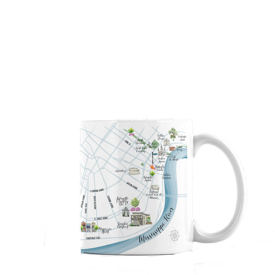 New Orleans Map Mug, 11oz