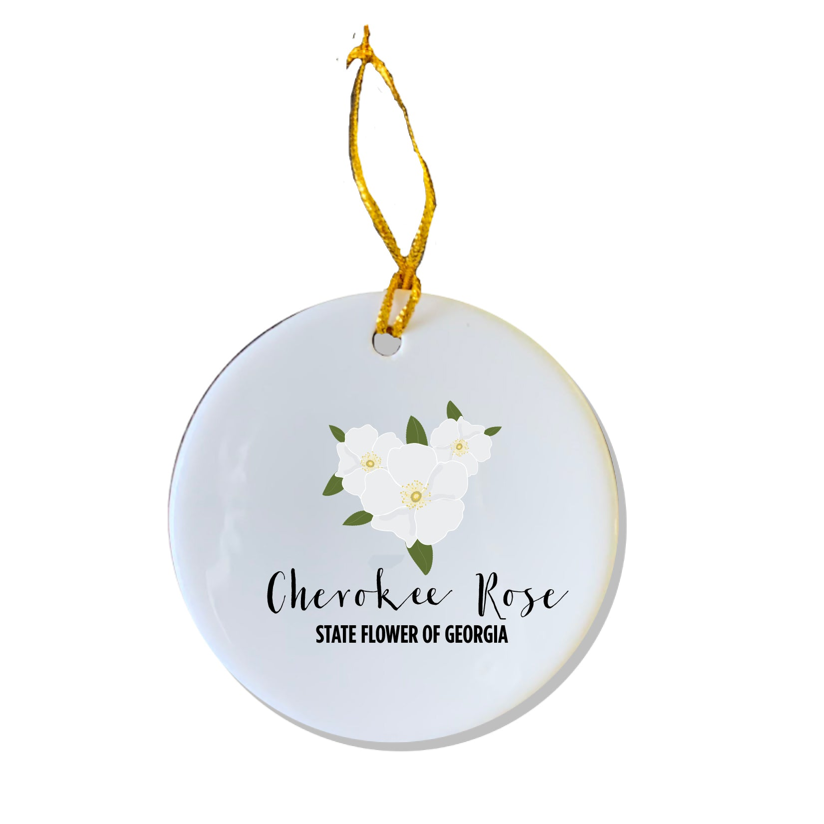 GA State Flower Ornament