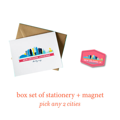 Box Set of Stationery + Magnet