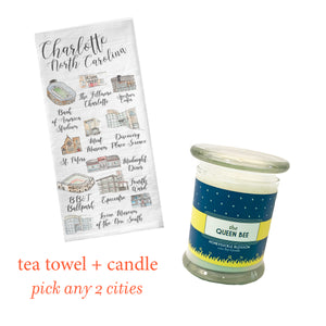 Candle + Tea Towel